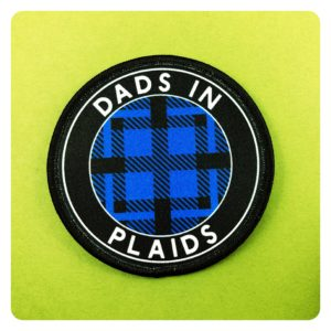 Dads in Plaids Lesbian Flannel BLUE Patch