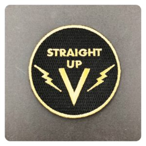 Vanlis Straight Up V Iron On Patch